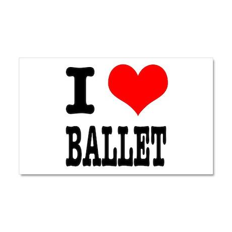 I Heart (Love) Ballet Car Magnet 20 x 12