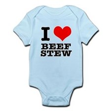 I Heart (Love) Beef Stew Infant Bodysuit