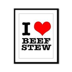 I Heart (Love) Beef Stew Framed Panel Print