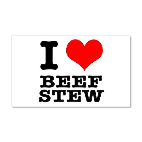 I Heart (Love) Beef Stew Car Magnet 20 x 12