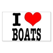 I Heart (Love) Boats Decal