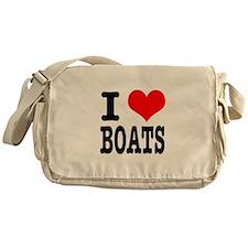 I Heart (Love) Boats Messenger Bag