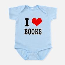 I Heart (Love) Books Infant Bodysuit