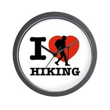 I love Hiking Wall Clock