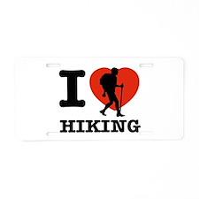I love Hiking Aluminum License Plate
