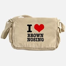 I Heart (Love) Brown Nosing Messenger Bag