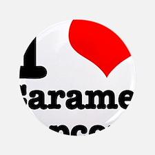 """I Heart (Love) Caramel Popcor 3.5"""" Button"""