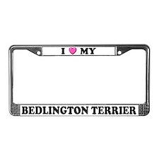 I Heart My Bedlington Terrier License Plate Frame
