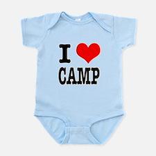 I Heart (Love) Camp Infant Bodysuit