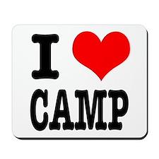 I Heart (Love) Camp Mousepad