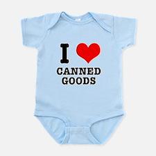 I Heart (Love) Canned Goods Infant Bodysuit