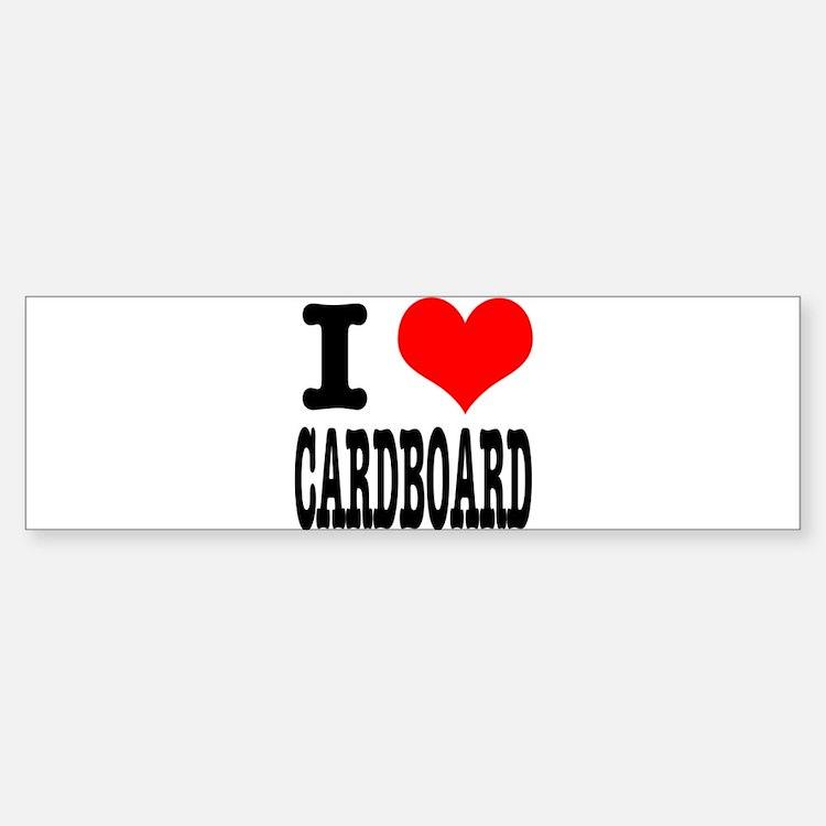 I Heart (Love) Cardboard Bumper Bumper Sticker