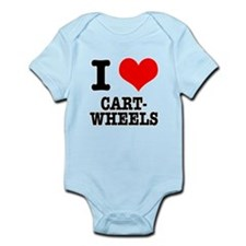 I Heart (Love) Cartwheels Infant Bodysuit