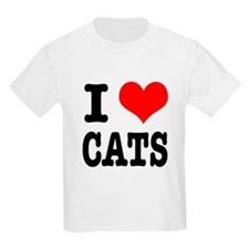 I Heart (Love) Cats T-Shirt