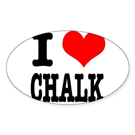 I Heart (Love) Chalk Sticker (Oval 10 pk)