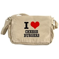 I Heart (Love) Cheeseburgers Messenger Bag