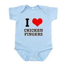 I Heart (Love) Chicken Finger Infant Bodysuit