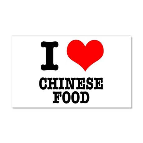 I Heart (Love) Chinese Food Car Magnet 20 x 12