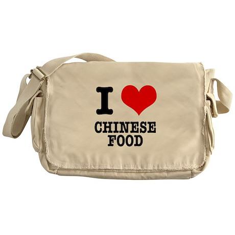 I Heart (Love) Chinese Food Messenger Bag