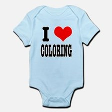 I Heart (Love) Coloring Infant Bodysuit