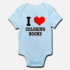 I (Heart) Love Coloring Books Infant Bodysuit
