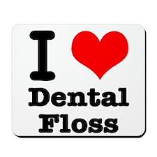 I Heart (Love) Dental Floss Mousepad