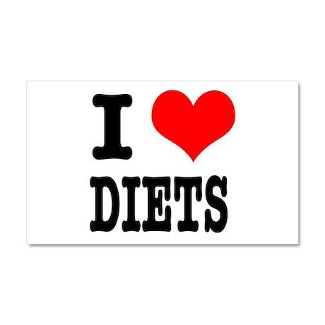 I Heart (Love) Diets Car Magnet 20 x 12