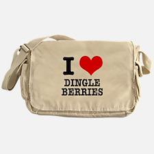 I Heart (Love) Dingleberries Messenger Bag
