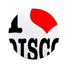 "I Heart (Love) Disco 3.5"" Button (100 pack)"