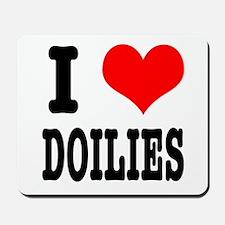 I Heart (Love) Doilies Mousepad