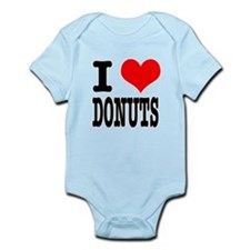 I Heart (Love) Donuts Infant Bodysuit