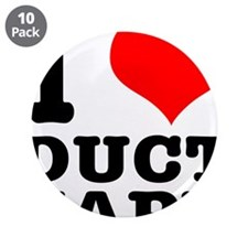 """I Heart (Love) Duct Tape 3.5"""" Button (10 pack"""