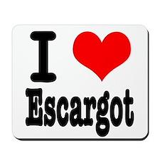 I Heart (Love) Escargot Mousepad