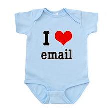 I Heart (Love) Email Infant Bodysuit