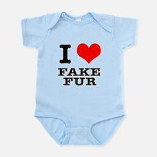 I Heart (Love) Fake Fur Infant Bodysuit