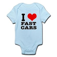 I Heart (Love) Fast Cars Infant Bodysuit