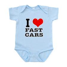 I Heart (Love) Fast Cars Onesie