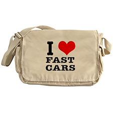 I Heart (Love) Fast Cars Messenger Bag