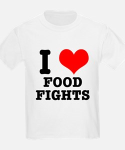 I Heart (Love) Food Fights T-Shirt