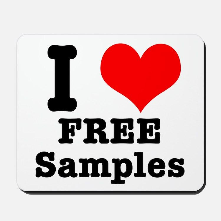 I Heart (Love) Free Samples Mousepad