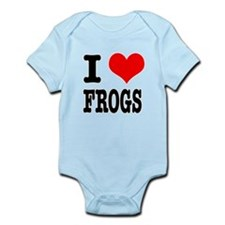 I Heart (Love) Frogs Infant Bodysuit