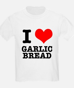 I Heart (Love) Garlic Bread T-Shirt