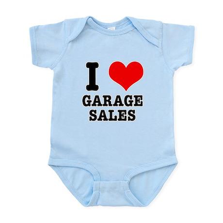I Heart (Love) Garage Sales Infant Bodysuit