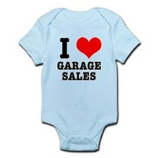 I Heart (Love) Garage Sales Infant Bodysuit
