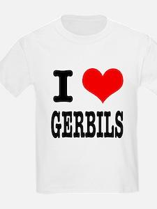 I Heart (Love) Gerbils T-Shirt