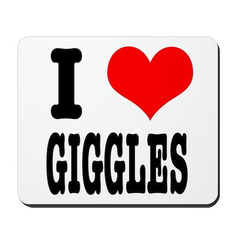 I Heart (Love) Giggles Mousepad