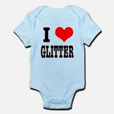 I Heart (Love) Glitter Infant Bodysuit