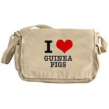 I Heart (Love) Guinea Pigs Messenger Bag