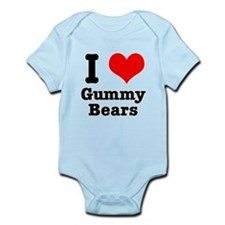 I Heart (Love) Gummy Bears Infant Bodysuit