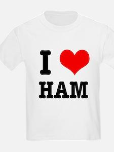 I Heart (Love) Ham T-Shirt
